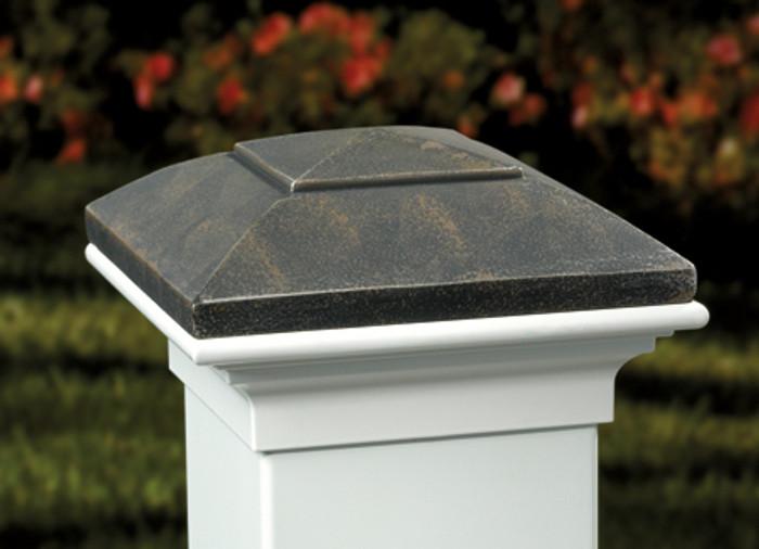 Oiled Bronze Post Cap / White