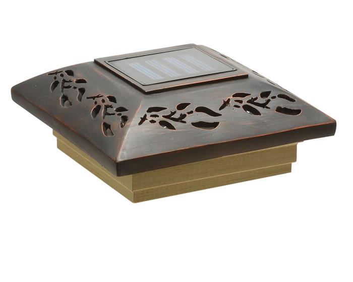 Leaf Designer Solar Post Cap