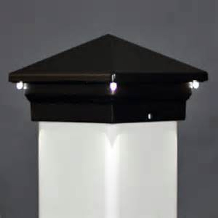 LED Post Cap / Eclipse / Black