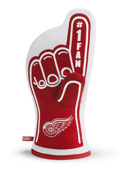 detroit red wings oven mitt