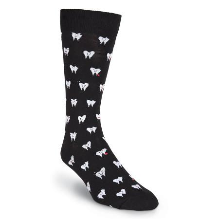 teeth mens crew socks