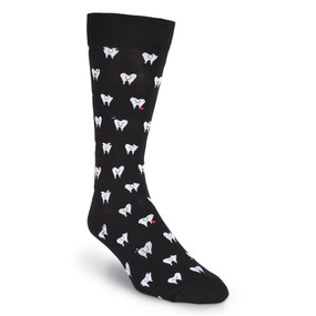 teeth mens crew socks