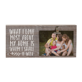 share my home picture  clip, rustic photo display, 5.5 x 12