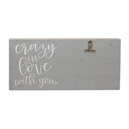 crazy in love, picture clip, photo display, 5.5 x 12 x 1.25