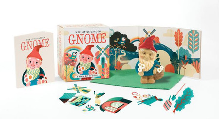 wee little garden gnome, book, garden, office, luck