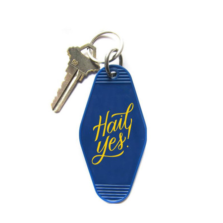 hail yes! michigan retro key chain