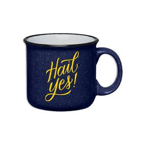hail yes! michigan mug, camp style, enamel