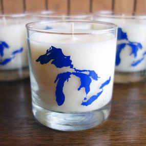 great lakes fresh water scented soy candle