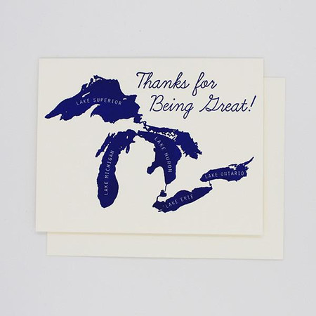 thanks for being great - great lakes | thank you card