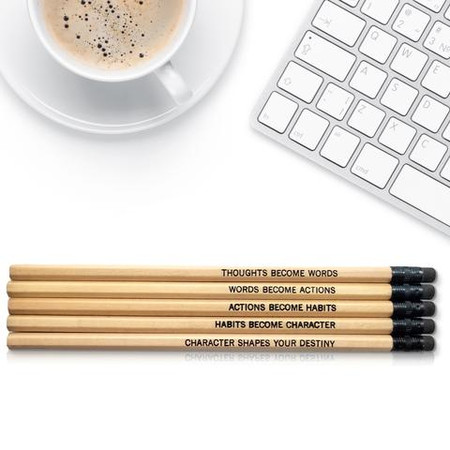 ghandi quote inspirational pencil set