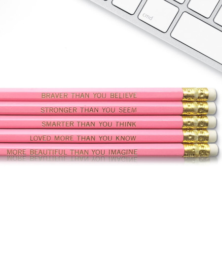 winnie the pooh quote inspirational pencil set