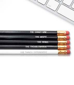 crazy ones inspirational pencils