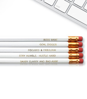 boss babe inspirational pencils