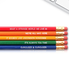 alice in wonderland inspirational pencil set