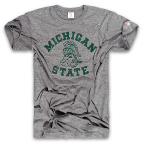 msu - gruff sparty gray unisex t-shirt, spartans, michigan state university, vintage