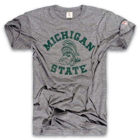 msu - gruff sparty gray unisex t-shirt, spartans, michigan state university, vintage