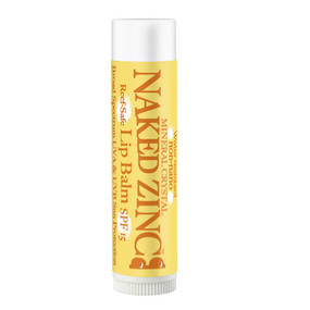naked zinc  lip balm spf 15, sun protection