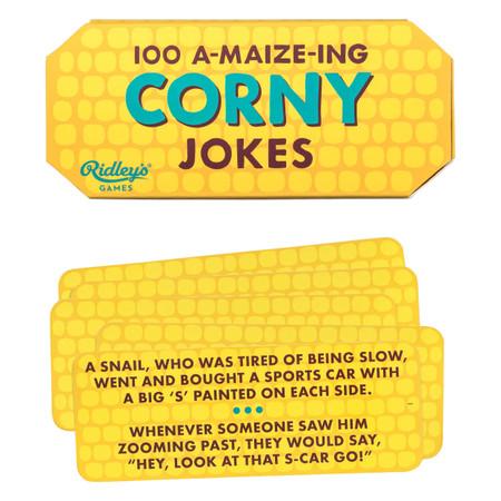 100 corny jokes packaged in a corn-shaped box
