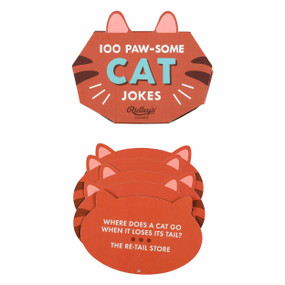 100 cat jokes, cat-shaped box