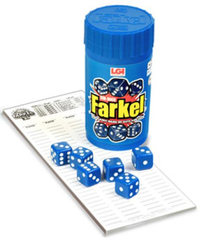 classic 6 dice farkel, face paced, family fun