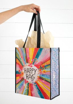 large sunrise burst happy bag