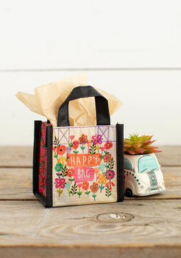 tiny watercolor flowers  happy bag