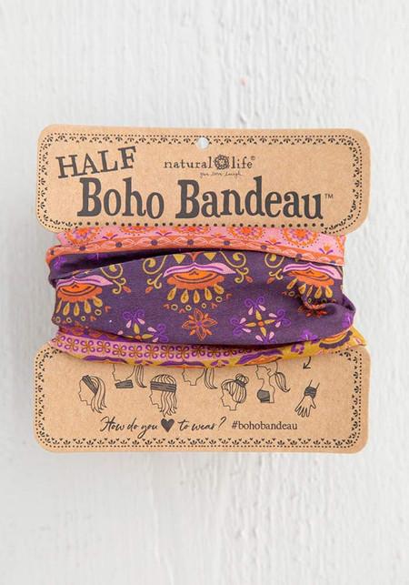 purple mandala half boho bandeau
