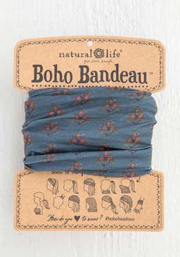 charcoal block print boho bandeau