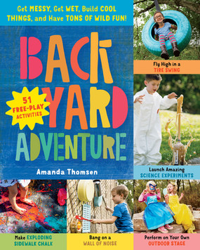 backyard adventure, activities book, cover