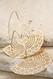 gold semicircle filigree earrings