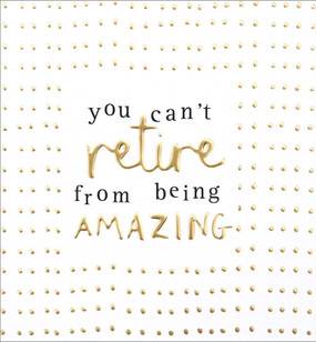 amazing gold dots retirement card