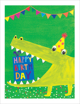 alligator happy birthday card