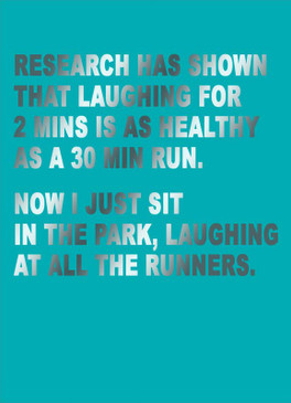 laugh runners just for laughs card