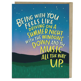 summer nights love card
