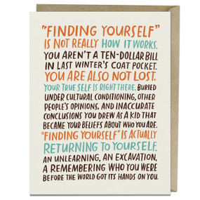 finding yourself inspirational card
