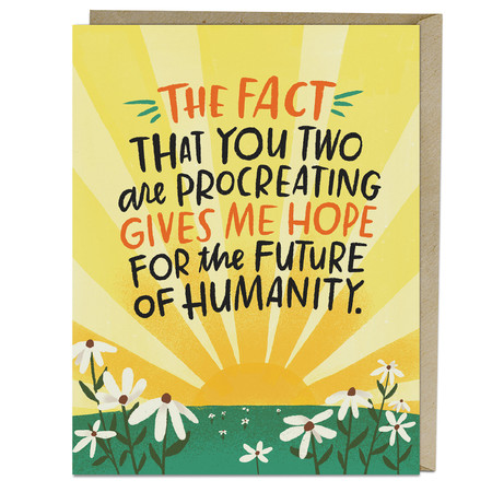 future of humanity new baby card
