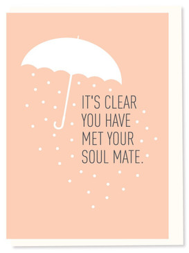 soul mate, wedding shower card