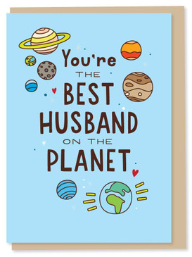 you're the best husband on the planet, love card