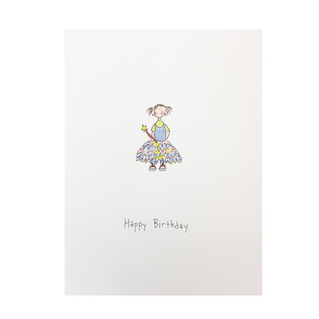 little princess birthday card for child, girl