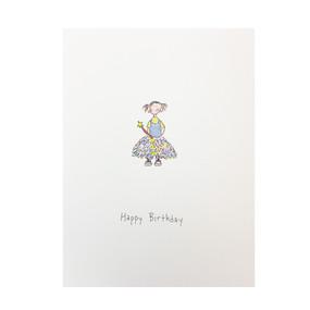 little princess birthday card for child, girl