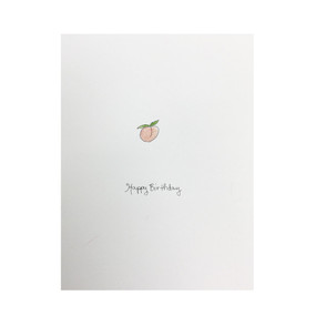 happy birthday to a real peach birthday card