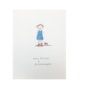 happy birthday to my granddaughter birthday card