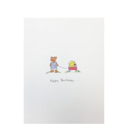 sunshine everywhere birthday card