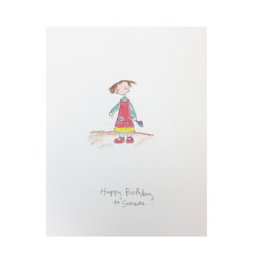 happy birthday to someone who sows birthday card