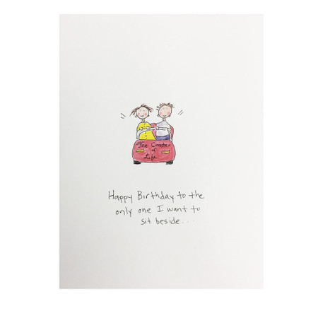 coaster of life birthday card