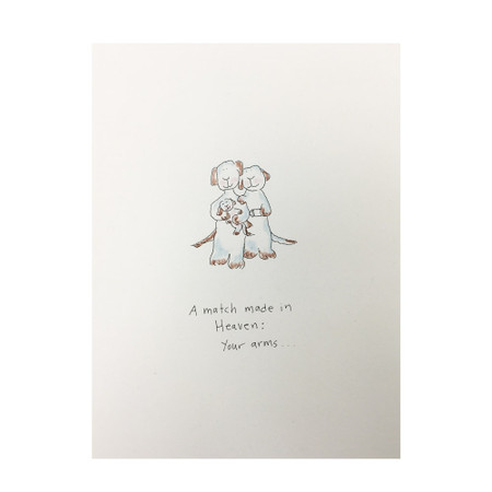 a match made in heaven new baby card