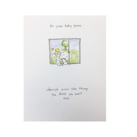 as your baby grows new baby card