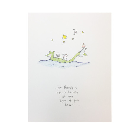 voyage of your life new baby card