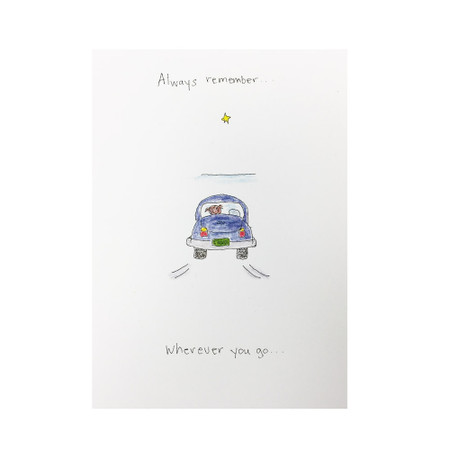 God is already there inspirational card