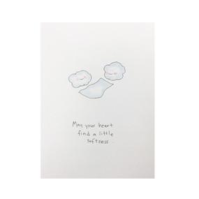heart find softness encouragement card